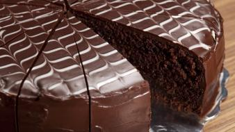 Chocolate food cakes Wallpaper