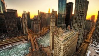 Cityscapes chicago urban hdr photography wallpaper