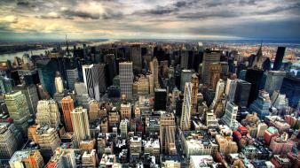 Cityscapes manhattan aerial view Wallpaper