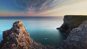 Cliffs wales united kingdom hdr photography sea wallpaper