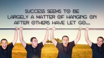 Facebook men hanging saying cover success sayings skies wallpaper