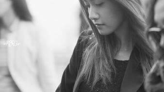 Generation snsd outdoors asians im yoona monochrome Wallpaper