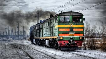 Hdr photography trains wallpaper