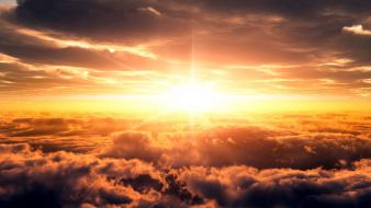 Heaven sun clouds landscapes skies wallpaper