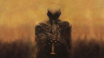 Horns zdzislaw beksinski surreal art Wallpaper
