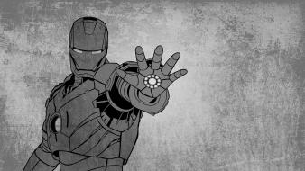 Iron man grunge superheroes grayscale marvel comics wallpaper