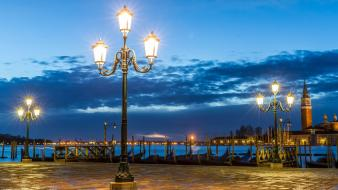 Italy venice cities clouds lights wallpaper
