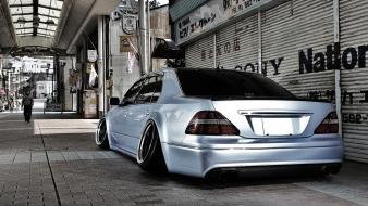 Japan cars lexus slammed toyota celsior camber wallpaper