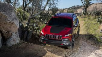 Jeep cherokee cars nature trees wallpaper