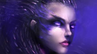 Kerrigan queen of blades starcraft ii faces wallpaper