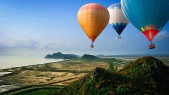 Landscapes balloons Wallpaper