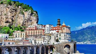 Landscapes houses italy amalfi salerno positano wallpaper