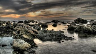 Landscapes nature coast rocks hdr photography sea wallpaper