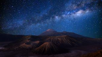 Landscapes nature stars indonesia wallpaper