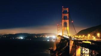 Landscapes night bridges golden gate bridge wallpaper