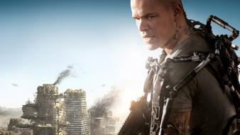 Matt damon elysium movie posters wallpaper