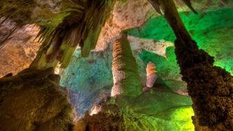 Mexico geology national park bats limestone chamber Wallpaper