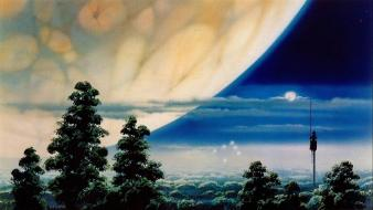 Moon ralph mcquarrie artwork concept art forests Wallpaper
