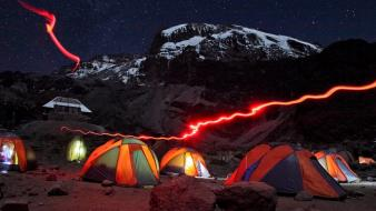 Mount kilimanjaro national geographic tanzania landscapes light trails wallpaper