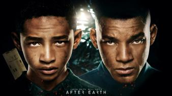 Movies actors will smith jaden faces after earth wallpaper