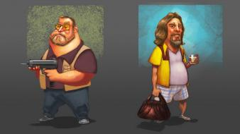 Movies the dude big lebowski walter sobchak wallpaper
