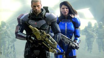 N7 mass effect 3 commander shepard ashley williams wallpaper