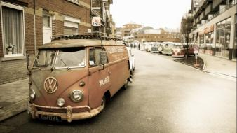 Old cars rust volkswagen low lowrider beetle street wallpaper
