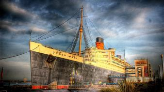 Queen mary ships wallpaper