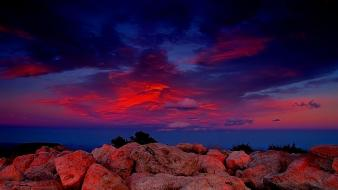 Red sky sunset wallpaper