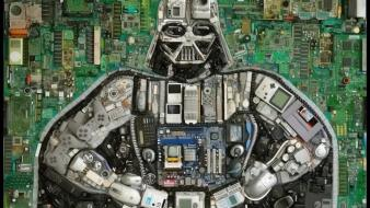 Star wars darth vader technology circuit boards wallpaper