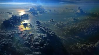 Sun clouds nature skies stratosphere wallpaper