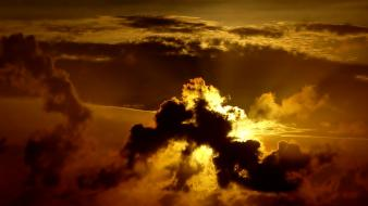 Sun clouds nature skies sunlight wallpaper