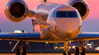 Sunset aircraft aviation gulfstream wallpaper