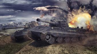 Tanks king tiger world of e75 wallpaper