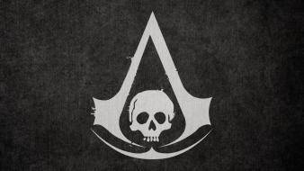 Video games assassins creed pirate flag 4: black wallpaper