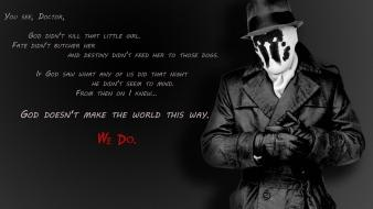 Watchmen quotes rorschach grayscale wallpaper