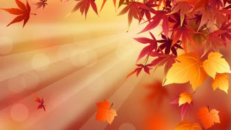Abstract fall leaves wallpaper