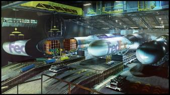 Aircrafts industrial plants travel cranes rocket fedex wallpaper
