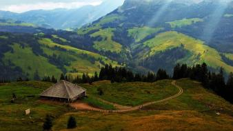 Alps lucerne switzerland blue brown wallpaper