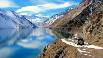 Andes chile deva brown calm wallpaper