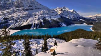 Banff national park canada lakes mountains Wallpaper