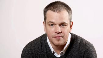 Blue eyes men actors matt damon faces wallpaper