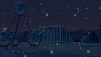 Blue snow the venture bros. dome archetecture wallpaper