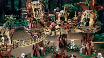 C-3po science fiction villages legos toys ewoks wallpaper