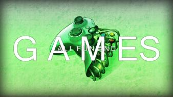 Consoles controllers fun green video games wallpaper