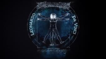 Design vitruvian man leonardo da vinci Wallpaper