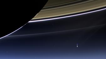 Earth saturn outer space planets the day wallpaper