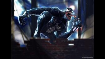 Eddie brock marvel comics symbiote venom fan art wallpaper
