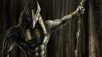 Egypt artwork mythology anubis wallpaper