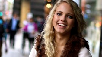 Emilie voe nereng norwegian girls blondes blue eyes wallpaper